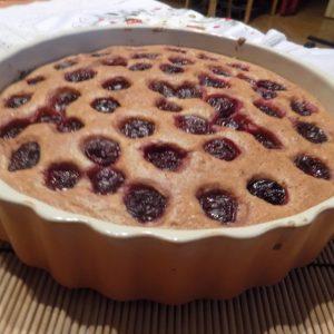 paleo meggyes süti