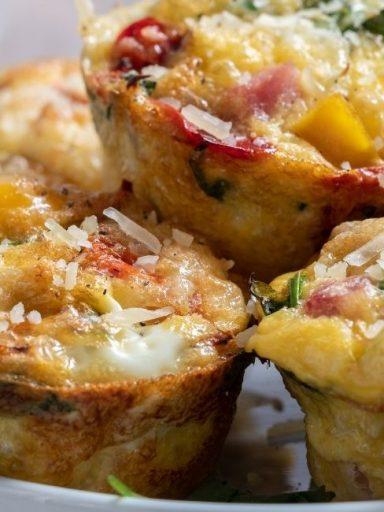 sonkás tojásos muffin