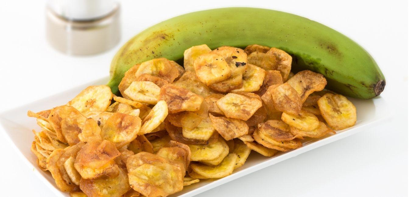 zöldbanán chips